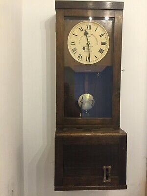 Gledhill Brook Fusee Clocking In Machine Oak Cased Time Recorder  77960