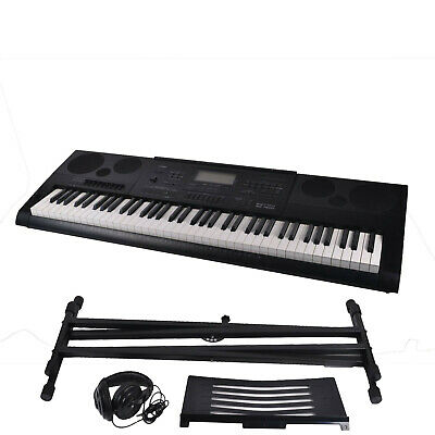 Casio WK-7600 Electronic Keyboard 76 Note Piano Style with Stand and Headphones