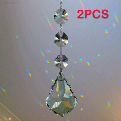 6173 Transparent Hanging Crystal Garland Strand Gift Curtain Pendants Practical