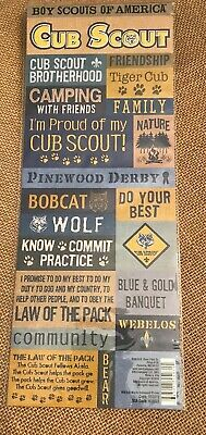 Boy Scouts of America CUB SCOUT Sheet of Embossed Stickers from K & Co.