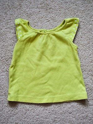 Gymboree Baby Girls' Green Short Sleeves Top - Size 6-12M