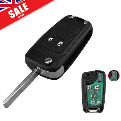 2Button Flip Remote Key Fob 433MHz ID46 Chip for Opel Vauxhall Insignia Astra
