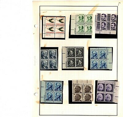Lot of U.S.Postage Stamps, Mint NH, Blocks Plate Blocks Face Value $65.04
