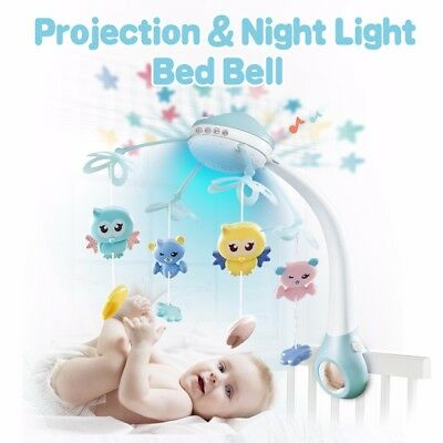 Infant Baby Rotary Music Crib Bed Bell Mobile Box Holder Arm Bracket Hanging Toy