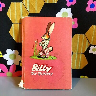 Vintage 1940s Billy the Bunny Peekabook Childrens Colour Illustrated Book