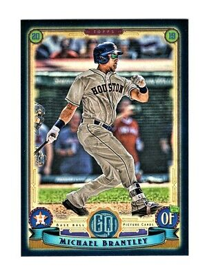 2019 Topps Gypsy Queen Michael Brantley Indigo SP #154/250 Houston Astros