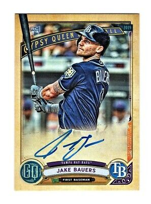 2019 Topps Gypsy Queen Jake Bauers Rookie Auto Tampa Bay Rays Autograph