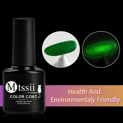 7ml/bottle MTSSII Nail Gel Polish Luminous No Wipe Top Coat Soak Off Gel Varnish
