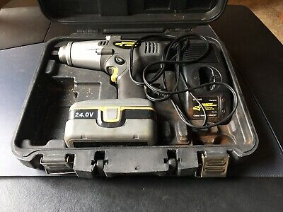 Longacre Cordless Impact Gun, Case, Charger, And Old 24V Battery