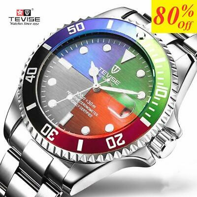 TEVISE Fashion Mens Watches Top Brand Luxury Casual Quartz Watch Men Stainless S