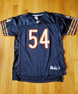 best sneakers 85053 82aea BRIAN URLACHER 54 Chicago Bears Football Jersey White Sewn ...