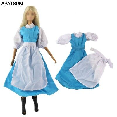 "Blue Fashion Doll Clothes For 11.5"" 1/6 Doll Dress Gown Cosplay Costume Outfits"