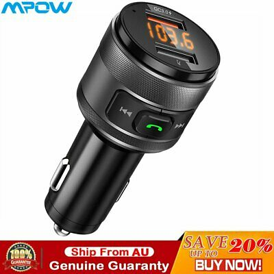 Victsing Bluetooth FM Transmitter for Car QC3.0 Wireless Adapter 5V 3.4A Car Kit