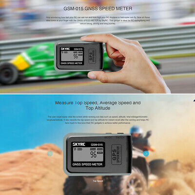 SKYRC GSM-015 GNSS GPS Speedometer Altimeter For RC Cars Speed Meter Q5N5