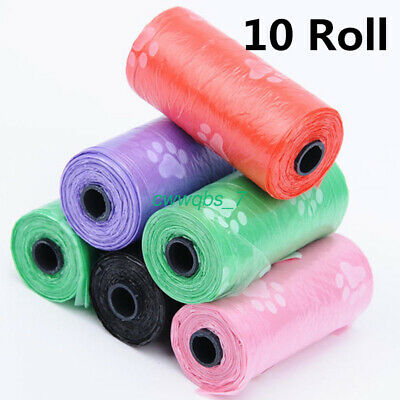10Roll 150pcs Pet Degradable Waste Poop Bags Dog Cat Clean Up Refill Garbage bag