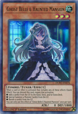 YUGIOH Card Ghost Belle & Haunted Mansion Ultra Rare DUPO-EN078 1st Edition