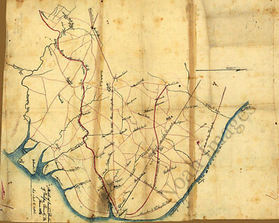 Sketch of eastern portion of Fairfax County Virginia c1861 map 30x24
