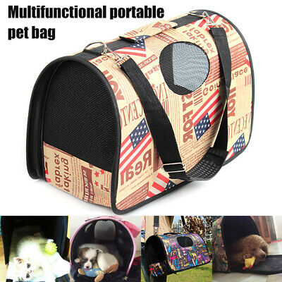 Portable Breathable Pet Puppy Dog Cat Travel Bag Carrier Cage Kennel Cage Tote