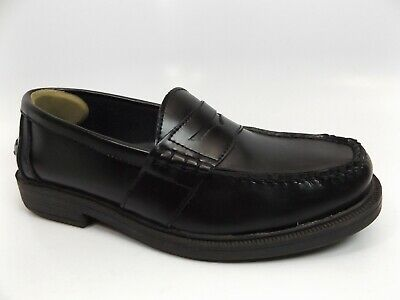 NUNN BUSH Lincoln Penny Loafer Slip-On Shoe Men, SZ 8.0 WIDE, BLACK D10700