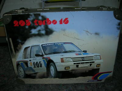 Peugeot 205 Turbo 16 -Samba Rallye Veritable Malette Pts Origine D'epoque