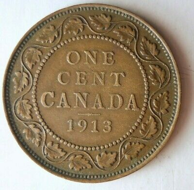 1913 CANADA CENT - Great Coin - Free Ship - Premium Vintage Bin #6