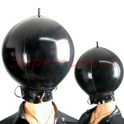 934 Latex inflatable mask full cover with D ring customized