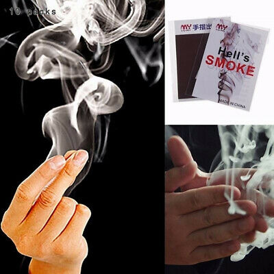 10x Cool Close-Up Magic Trick Finger Smoke Hell Smoke Stage Stuffs Fantasy Props
