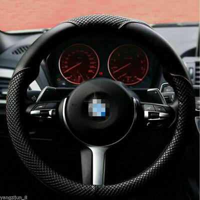 US Universal size Car Steering Wheel Cover 15''&38cm Durable PU Leather Non-slip
