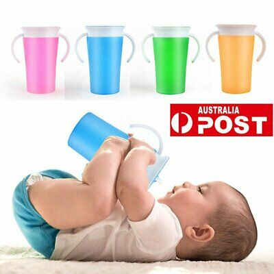 Non Spill Chew Proof Miracle Toddler Baby Training Sippy 360 Trainer Cup OD