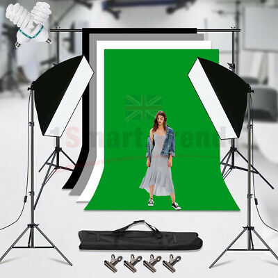 Black/White/Green/Gray Photo Backdrop Screen Background Crossbar Support Stand