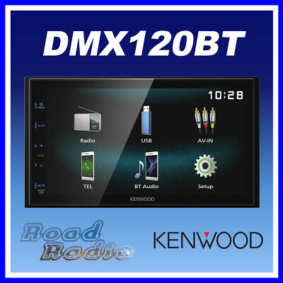"Kenwood DMX120BT 6.8"" Double Din WVGA Media Receiver Bluetooth iPod/Android"