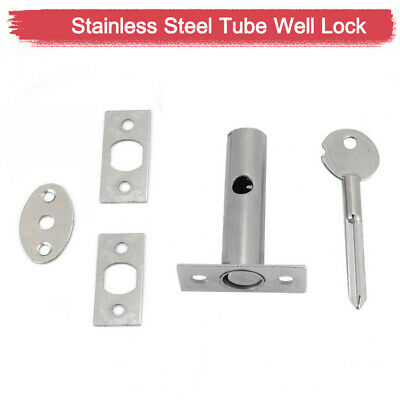 Strong Iron Security Door Bolt / Thumb Turn Key Sets Frame Strong Dead Lock
