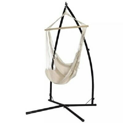 Chaise Suspendue + Structure Jardin Siège Hamac Hammock Chair Cream EXT ou INT