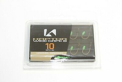 Korda Kaptor Barbless Fishing Hooks Choddy/Wide Gape/Kurv Shank - Choose Model