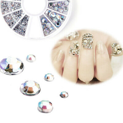Boite strass bijoux ongles deco ongles gel nail glitter 3D Manucure 6 taille