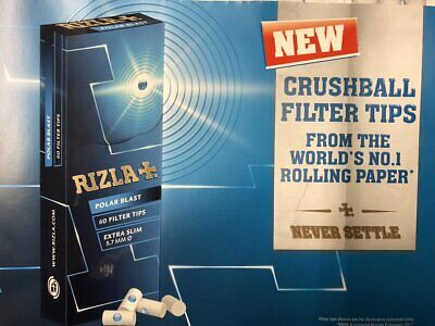 Rizla fresh bomb slim menthol filters | many variations by Reds Global
