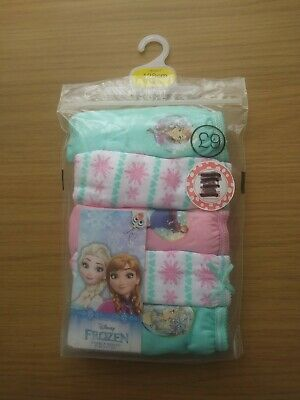 Girls Disney Frozen 5 Pack Briefs by BHS 7-8 years BARGAIN FREE POSTAGE .