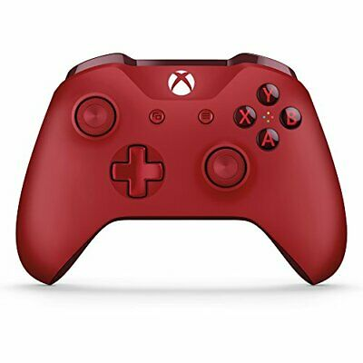 Xbox Wireless Controller Red For Xbox One WL3-00027 Very Good 7E