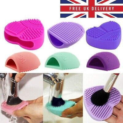 SILICONE MAKEUP BRUSH CLEANER Cleaning Cosmetic Scrubber Board Mat Pad Tool UK9