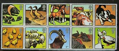 10 first class stamps Royal Mail mint good for post farmyard animals