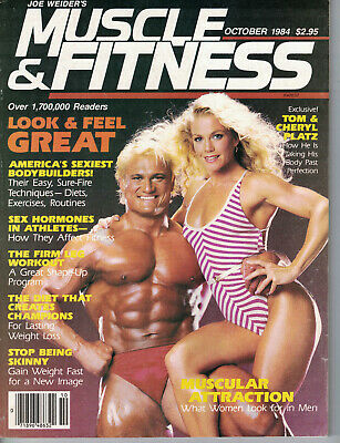 OCT 1984 MUSCLE AND FITNESS vintage bodybuilding magazine - TOM
