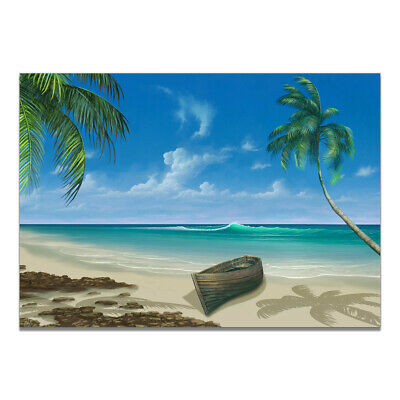 Natural Beach Paradise Landscape Canvas Painting Poster Home Art Wall Decor