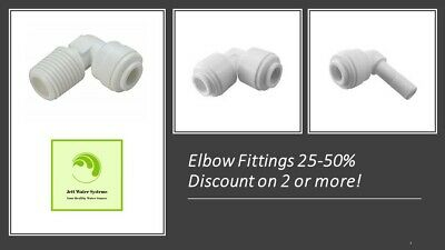Reverse Osmosis RO/DI Elbow Water Fittings - Save 40-60% On 2 Or More Items.