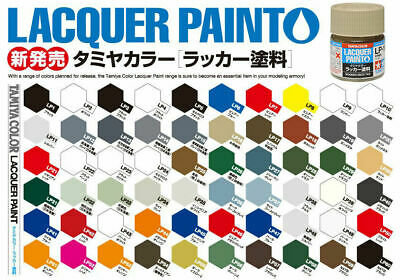 Tamiya Lacquer Paint 10ml LP-1 to LP-60 Model Paint Jars