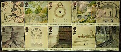 10 first class stamps for the price of 9 - Royal Mail mint good for post Hobbits
