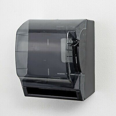 """(One) Black Roll Towel Dispenser With Level/Locking Keys Mounted Holds 8"""" Towel"""