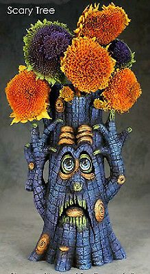 """Ceramic Bisque ~~Ready to Paint ~~""""Scary Tree""""  BRAND NEW"""