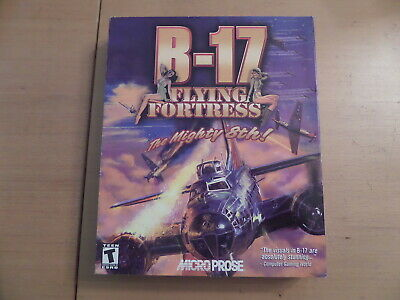 B-17 Flying Fortress The Mighty 8TH By Microprose + Manual Box & Chart PCCD