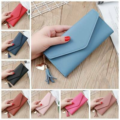 Women Lady Clutch Leather Long Wallet Solid Card Holder Phone Bag Purse Handbag