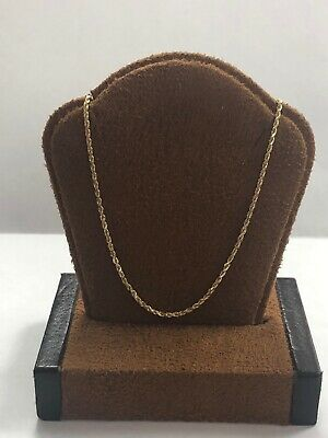"""Gorgeous 14KT Yellow Gold 585 Rope Chain Necklace - 17.75"""" Long - 1.25 MM Wide"""